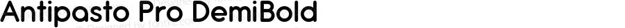 Antipasto Pro DemiBold Version 1.000