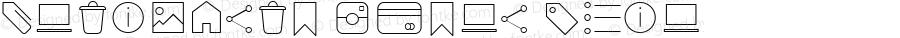 Antipasto Icons Thin Version 1.000