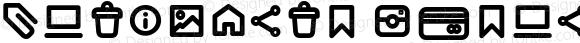 Antipasto Icons DemiBold Version 1.000