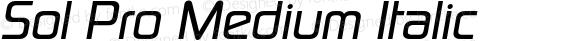 Sol Pro Medium Italic