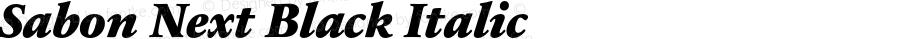 Sabon Next Black Italic Version 1.20
