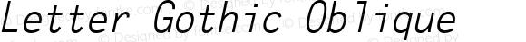 Letter Gothic Oblique