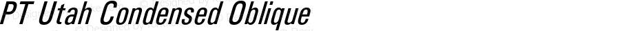 PT Utah Condensed Oblique Version 3.1
