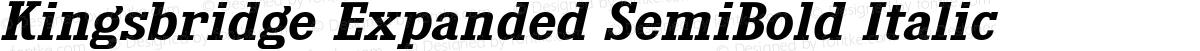 Kingsbridge Expanded SemiBold Italic