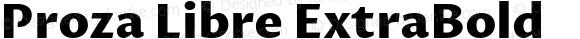 Proza Libre ExtraBold Version 1.001; ttfautohint (v1.4.1.8-43bc)