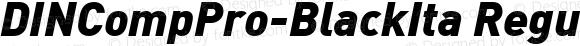 DINCompPro-BlackIta Regular Version 7.504; 2009; Build 1021