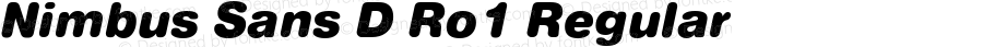 Nimbus Sans D Ro1 Regular 001.005