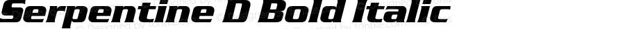 Serpentine D Bold Italic 001.005