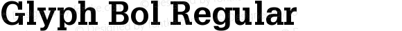 Glyph Bol Regular 001.000