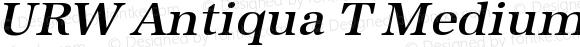 URW Antiqua T Medium Oblique 001.005