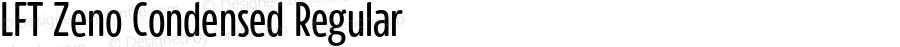 LFT Zeno Condensed Regular Version 0.000;PS 0.0;hotconv 1.0.72;makeotf.lib2.5.5900 DEVELOPMENT