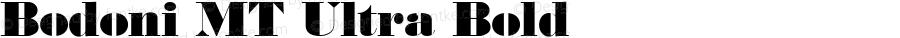 Bodoni MT Ultra Bold 001.001 : Feb 1992 : Imprint set