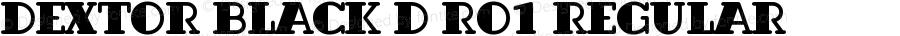 Dextor Black D Ro1 Regular 001.005