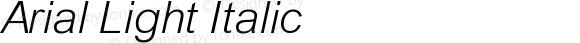 Arial Light Italic 4.0