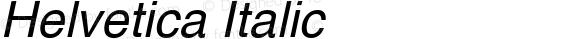 Helvetica Italic Altsys Fontographer 3.3  9/22/91