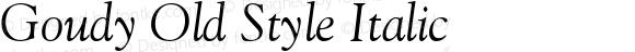 Goudy-Italic