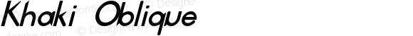 Khaki Oblique
