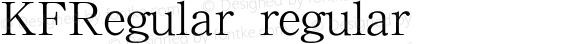KFRegular regular