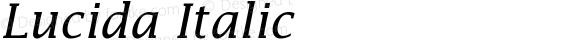 Lucida Italic 001.000