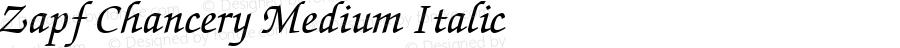 Zapf Chancery Medium Italic
