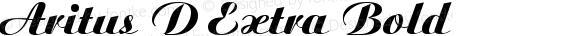 Aritus D Extra Bold 001.004