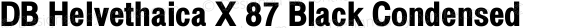 DB Helvethaica X 87 Black Condensed