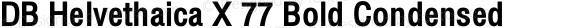 DB Helvethaica X 77 Bold Condensed