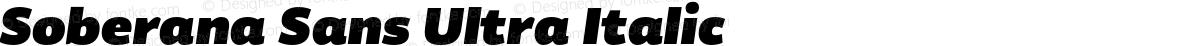 Soberana Sans Ultra Italic