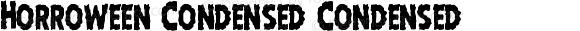 Horroween Condensed Condensed
