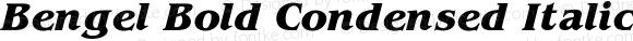 Bengel Bold Condensed Italic