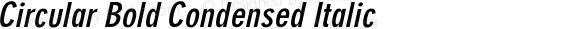 Circular Bold Condensed Italic