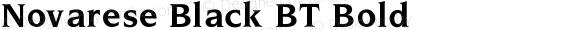 Novarese Black BT Bold V1.00
