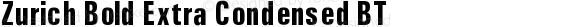 Zurich Bold Extra Condensed BT