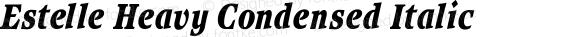 Estelle Heavy Condensed Italic