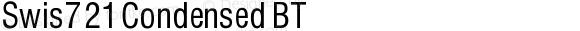 Swis721 Condensed BT V1.00