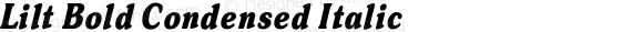 Lilt Bold Condensed Italic