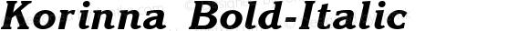 Korinna Bold-Italic