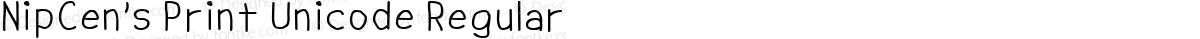 NipCen's Print Unicode Regular