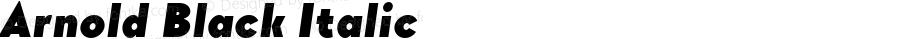 Arnold Black Italic Version 1.00 April 30, 2017, initial release