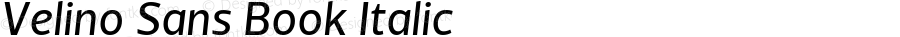 Velino Sans Book Italic Version 1.000