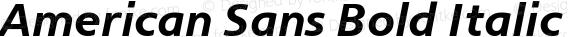 American Sans Bold Italic Version 001.002