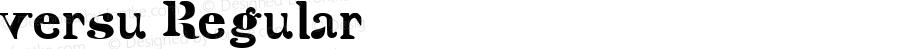 versu Regular Macromedia Fontographer 4.1.5 30/7/03