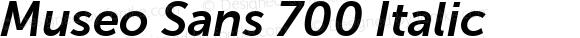 Museo Sans 700 Italic
