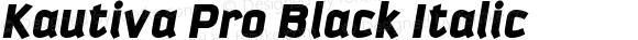 Kautiva Pro Black Italic