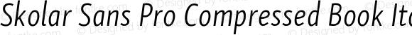 Skolar Sans Pro Compressed Book Italic