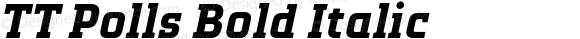 TT Polls Bold Italic