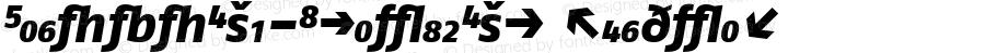 FagoNoExb-ItalicExp Regular Version 4.3; 2000