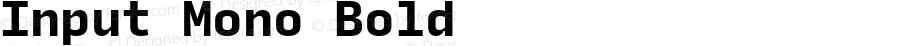 Input Mono Bold Version 0.000;PS 0.0;hotconv 1.0.72;makeotf.lib2.5.5900