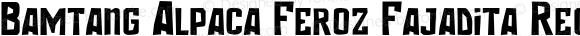 Bamtang Alpaca Feroz Fajadita Regular Version 1.00;June 24, 2017;FontCreator 11.0.0.2370 32-bit