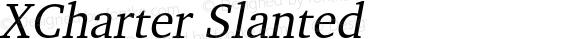 XCharter Slanted